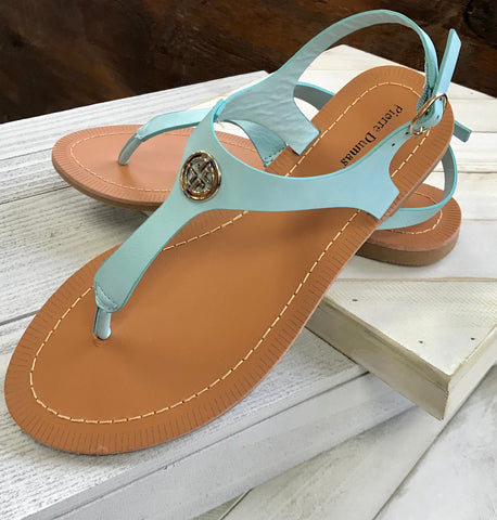 First Class Act Sandal - Light Blue