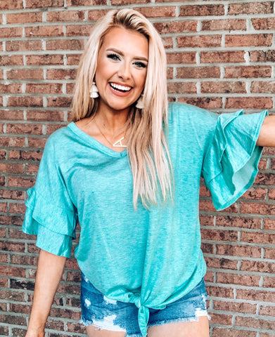 Catch My Vibe Top- Teal