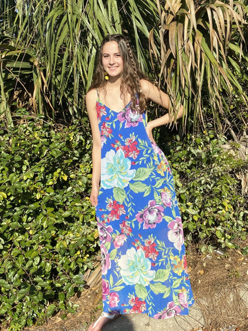 Trip To The Tropics Dress- Blue