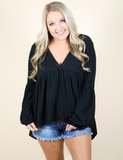 Not An Average Night Top - Black