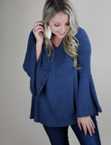 All Shook Up Top - Navy
