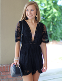 The Way You Get Me Romper - Black