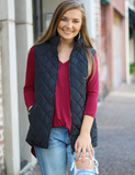 Warm Feelings Vest - Black