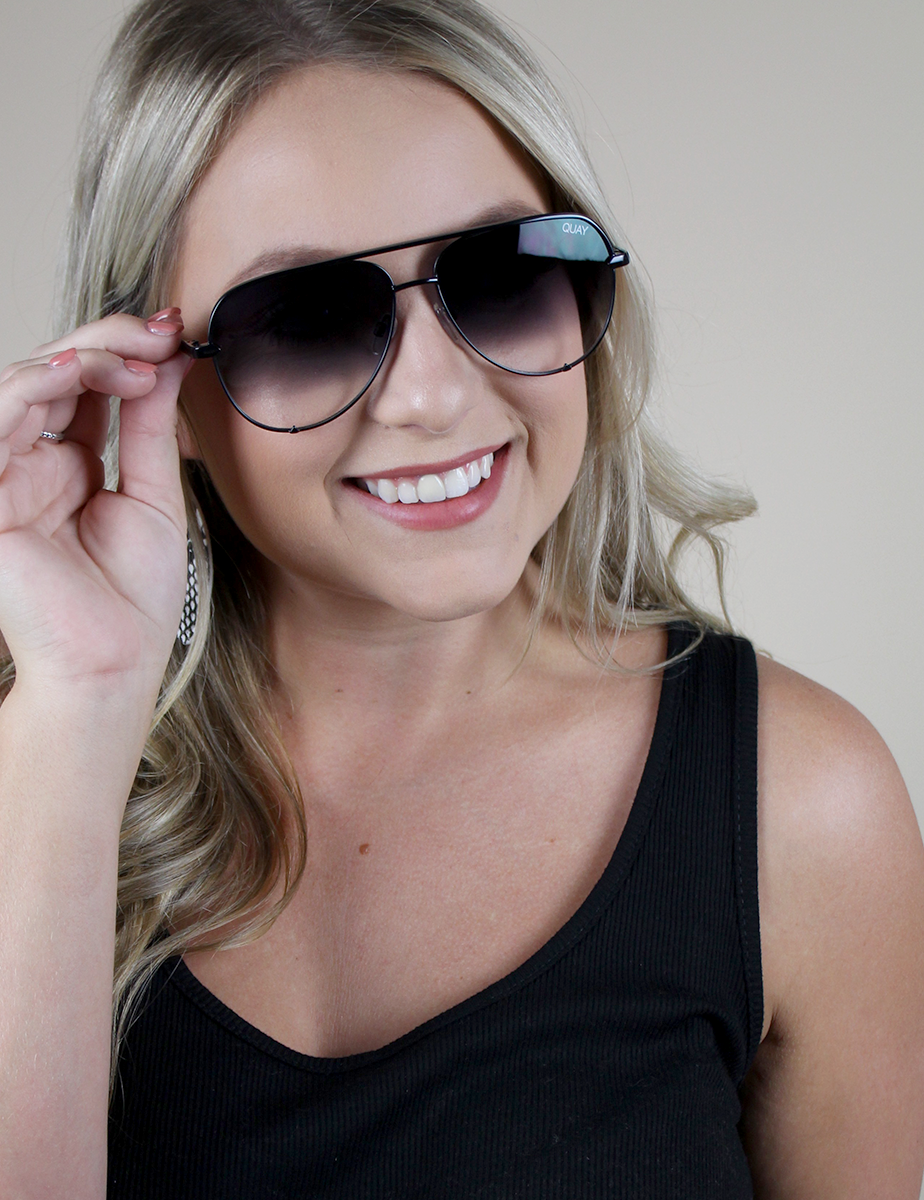 c79c49bbd4 Quay Australia  High Key Mini Black Fade Sunnies – The Dressing Space  Boutique