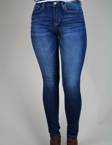 Have We Met Yet Jeans - Medium Dark Blue