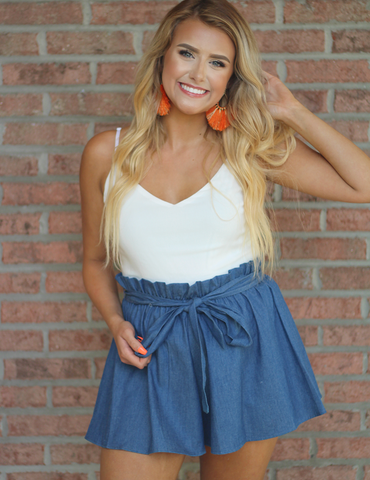Meant To Be Romper - Blue