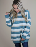 Give A Cheer Sweater - Blue Multi