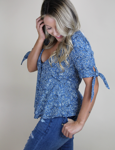 Call It A Night Top - Blue