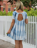 Falling For This Dress - Blue