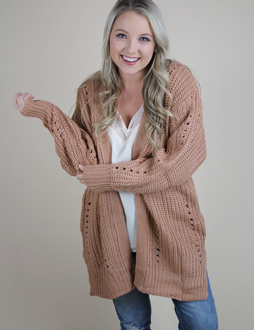 Be My Favorite Cardigan - Blush