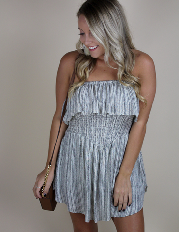 Think About Me Romper - Taupe