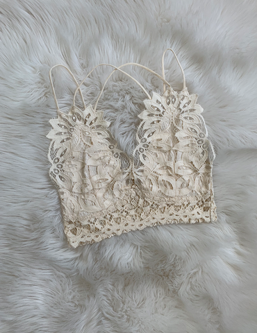 Feel The Vibe Bralette - Ivory