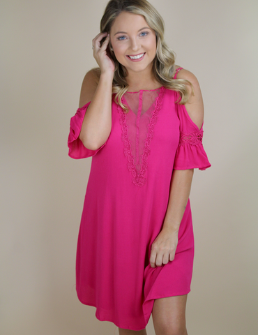 Always There For You Dress - Fuchsia