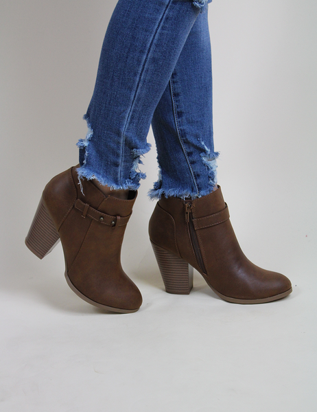 Step Into This Bootie - Brown