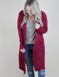 My Favorite Things Cardigan - Cabernet