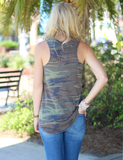 Z Supply: The Camo Pocket Racer Tank In Green