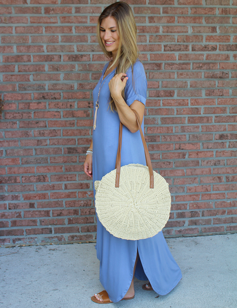 Feel The Vibes Maxi - Chambray