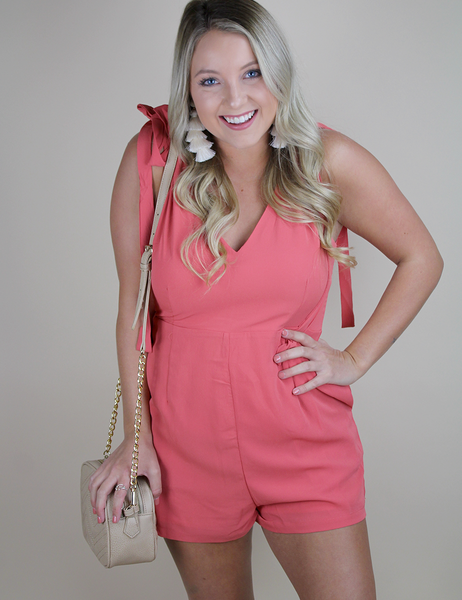 Buddy Love: You'll Miss Me Romper - Pink