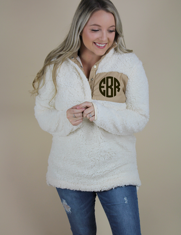 Get Closer Pullover - Cream - Monogram Me!