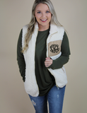 Get Closer Vest - Cream - Monogram Me!