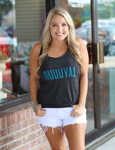 Duuuval Graphic Tank - Charcoal Black