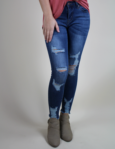 Take You Downtown Jeans - Dark Blue