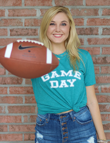 Game Day Graphic Tee - Teal