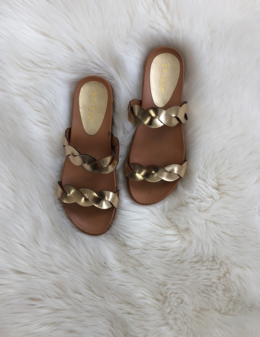 Bold Statement  Sandals - Gold