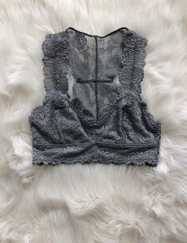 So Jealous Bralette - Light Grey