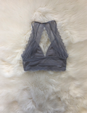 How It Goes Bralette - Grey