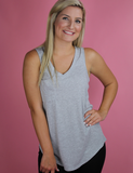 Z Supply: The Pocket Racer Tank In Grey Burnout