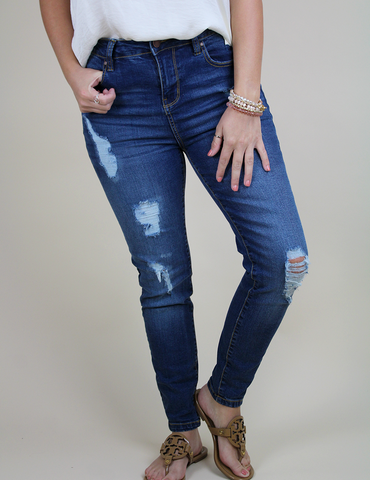 Couldn't Forget You Jeans - Medium Blue