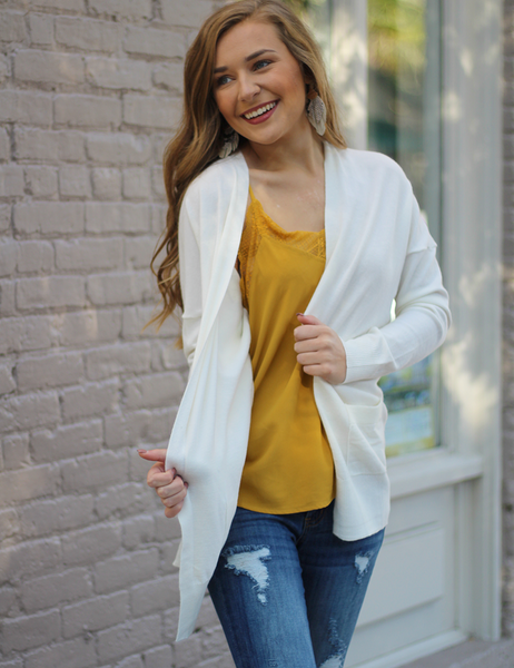 Get What You Need Cardigan - Ivory