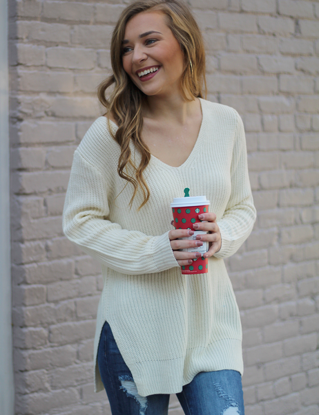 Take Me There Sweater - Ivory
