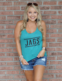 Jags Graphic  Tank - Teal