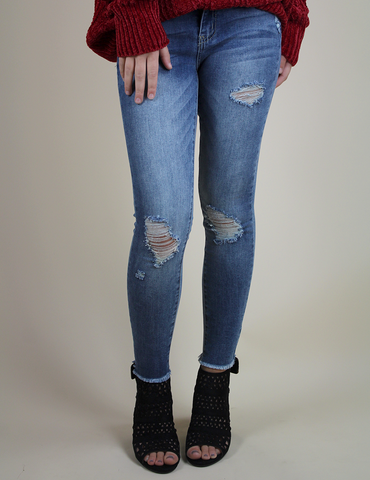The Caitlin Jeans - Medium Light Blue