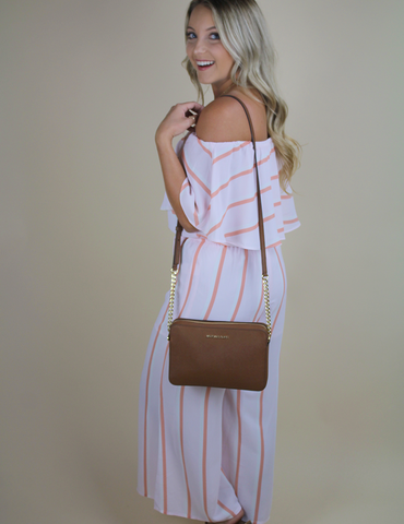 Buddy Love: My Ideal Type Jumpsuit - Peach