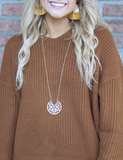 Lacy Open Clover Necklace