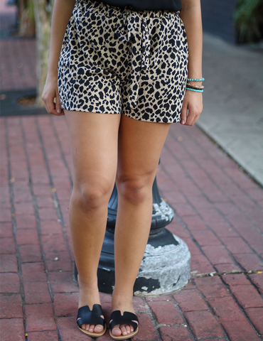 My Cheetah Girl Shorts - Taupe