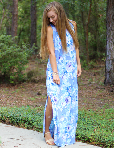 Hold You To It Maxi Dress - Lavender