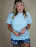 Simply Southern South Tee - Light Blue