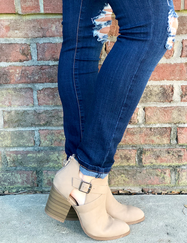 Get You Back Bootie - Light Taupe
