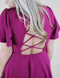 Into The Night Dress - Magenta