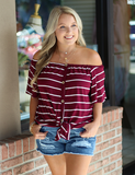 Don't Forget Me Top - Burgundy