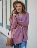 Something To See Sweater - Mauve