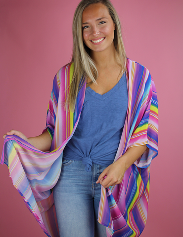 Follow The Rainbow Kimono - Multi