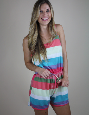 When She Smiles Romper - Multi