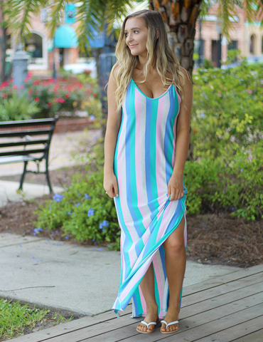 Wonders Of Color Maxi Dress - Mutli