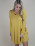 Right In Time Dress - Mustard