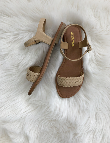 Follow You Anywhere Sandals - Nude